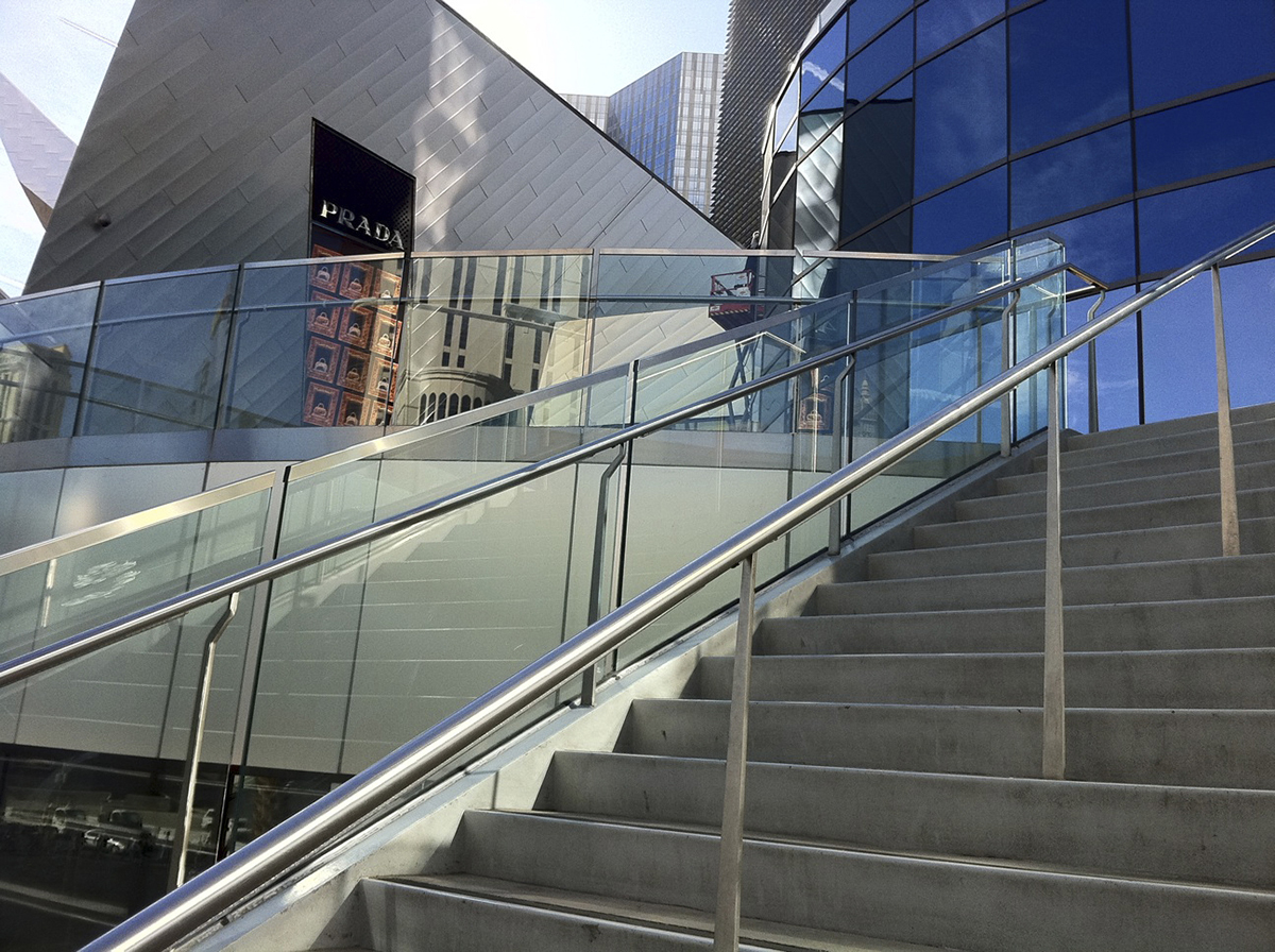 PanelGrip Glass Railing Prada Las Vegas
