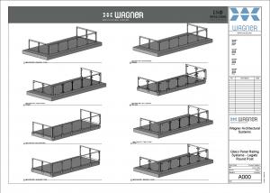 Wagner Glass Railing - Legato Round Post BIM Drawing