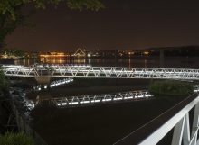 Diamond Teague Washington DC Lighted Rail