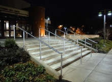 Montgomery College Lighted Railing