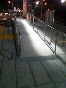 Township Rail Station Sacramento, CA Lighted Railing