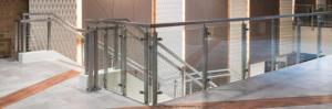 Legato square post glass railing system