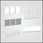 Wagner Glass Railing - Legato Square Post BIM Drawing