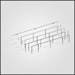 Wagner Glass Railing - Legato Round Post BIM Drawing